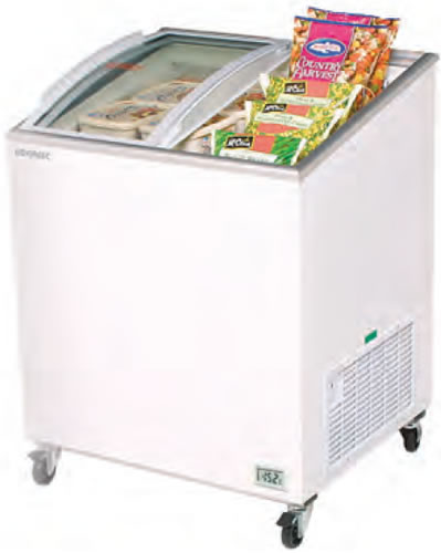 Bromic 191Lt Chest Freezer with Curved glass sliding Lids