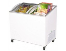 Bromic 264Lt Chest Freezer with Curved glass sliding Lids