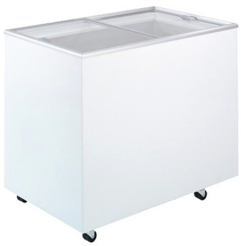 Bromic 296Lt Chest Freezer with Flat glass sliding Lids