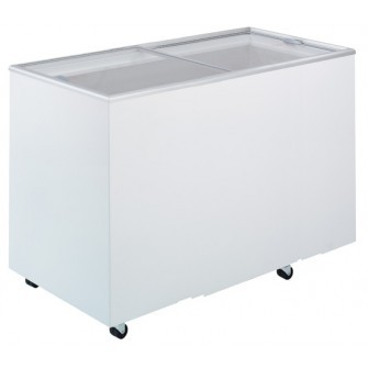 Bromic 401Lt Chest Freezer with Flat glass sliding Lids