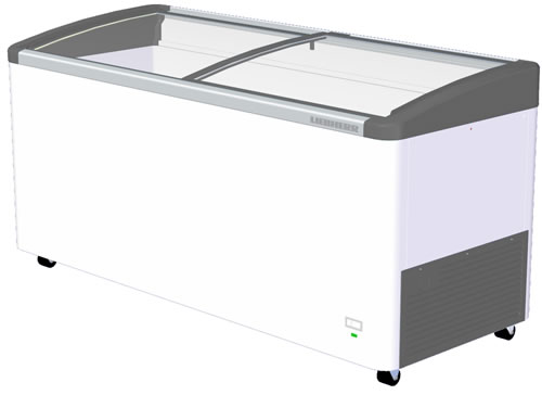 Liebherr 483Lt Chest Freezer with Curved sliding glass Lids