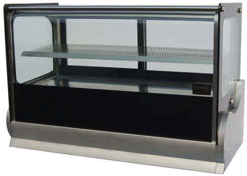 Anvil 1200mm wide Square Glass refrigerated Countertop Display