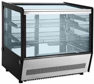 Bellevista 700mm wide 3 level Square glass Display