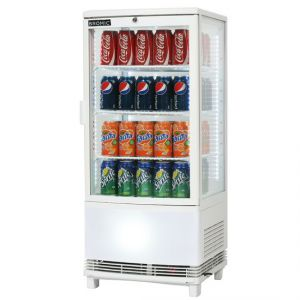 Bromic 80L Curved Glass Counter Top Chiller -Bottom Lightbox