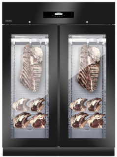 Everlasting Double Glass Door Dry Aging Cabinet Black