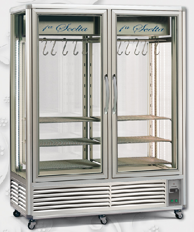 Tecfrigo 1150 Dry Aging Double Glass Door Refrigerated Cabinet