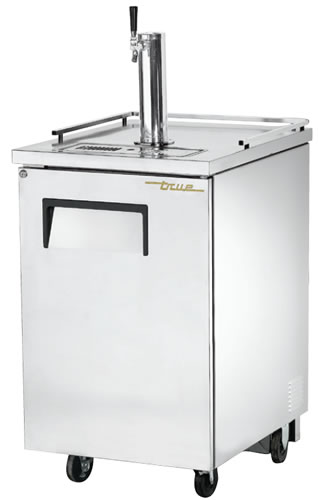 True single door Keg Fridge Stainless Finish