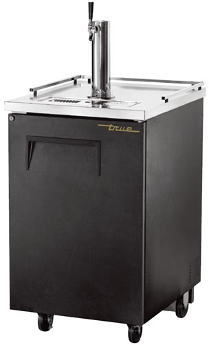 True single door Keg Fridge Black Finish