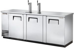 True Three Large door Keg Fridge Stainless Finish