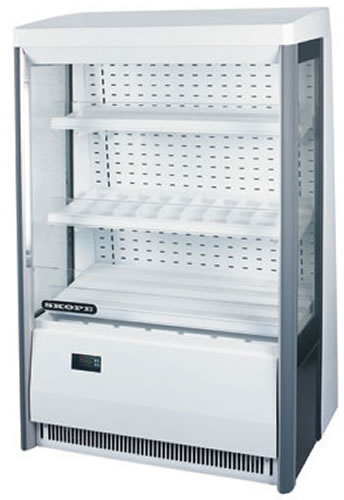 Skope 900mm wide LOW HEIGHT Open Face Refrigerated Display
