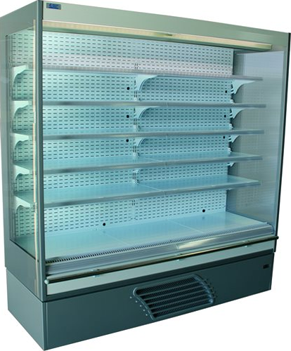 Bonnet Neve Offlip-3 Green, 997mm wide Open Serve Refrigerated Display