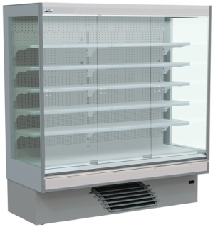 Bonnet Neve Onwave Eco 1935mm wide Glass door multi Deck Chiller