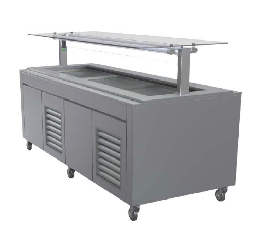 FPG 6 Pan Self Serve Salad Bar With Flat Glass