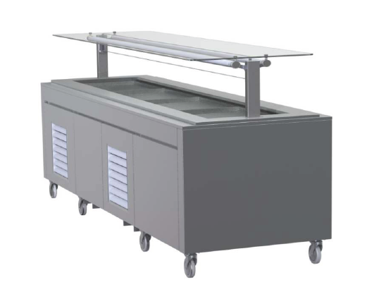 FPG 8 Pan Self Serve Salad Bar With Flat Glass