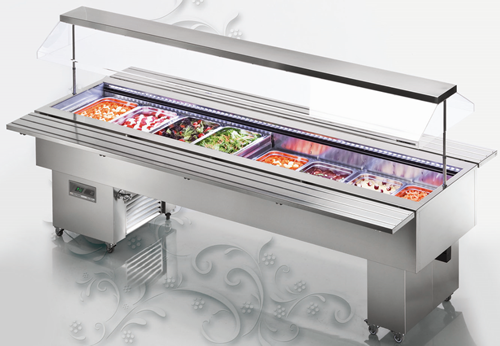 Tecfrigo Isola Inox 8 bay Salad Bar