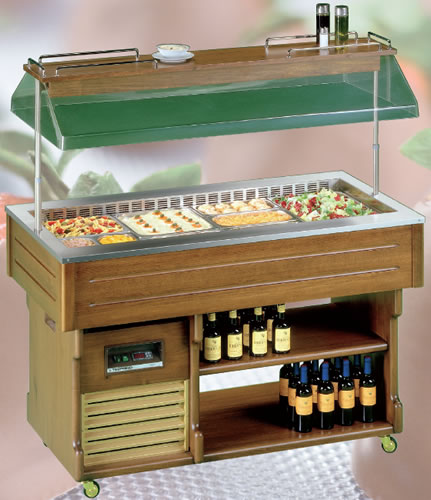 Tecfrigo Isola 4 bay Salad Bar