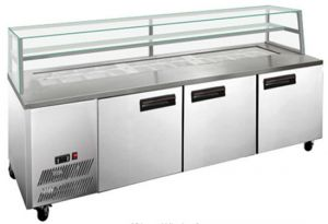 FED Thermaster three door Sandwich Counter Prep Fridge