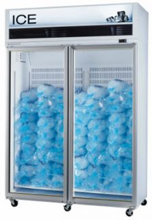 Upright Display Freezers for Ice