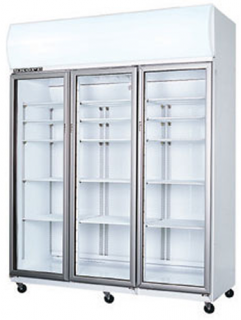 Skope SK1500 3 glass door vertical Fridge