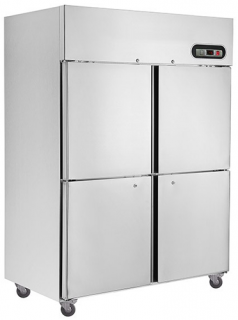 Thermaster 4 half door upright Stainless Freezer