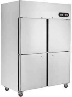Thermaster 4 half door upright Stainless Freezer 1445mm wide