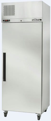 Williams Diamond Star single Solid Door Stainless Steel Upright Freezer