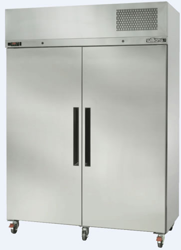 Williams Diamond Star Double Solid Door Upright Freezer Stainless Steel finish