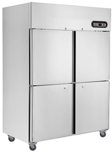 Thermaster 4 Half solid Door Vertical Stainless Steel Fridge