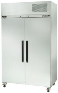 Williams Pearl Star Double Solid Door Fridge In Stainless Steel Finish