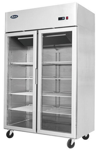 Atosa Double Glass Door Upright Fridge Top Mount 1300 LTR