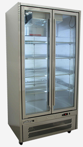 Williams Quartz Double glass door vertical Fridge Bottom Mounted Stainless