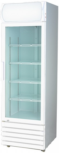 FED 610mm Wide Single Glass Door Vertical Fridge