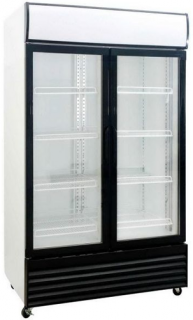 Saltas Double Glass Door Upright Display Fridge