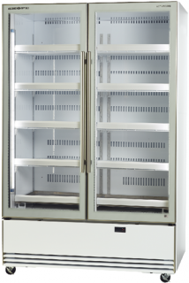 Skope BME1200-A Active Core Glass Double Door Vertical Fridge