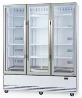 Skope BME1500N-A Active Core Triple Glass Door Vertical Fridge bottom mounted