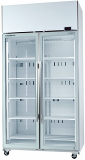 Skope TME1000-A Active Core Glass Double Door Vertical Fridge