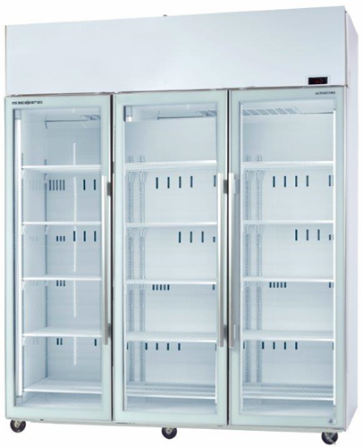 Skope TME 1500-A 3 Glass Door Vertical Fridge with Active core technology