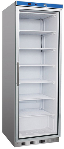 Thermaster 600mm Wide Single Glass Door Vertical Fridge