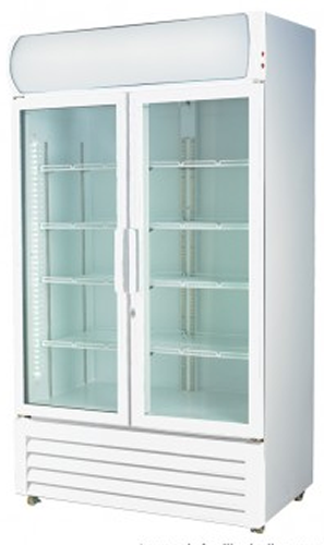 Thermatech Double Glass Door Vertical Display Fridge