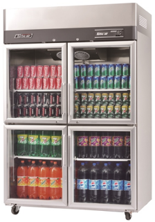 Turbo Air 4 X Half Glass Doors Fridge KR45-4G