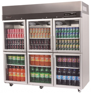 Turbo Air 6 X Half Glass Doors Fridge KR65-6G