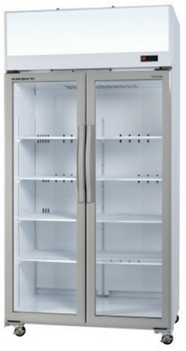 Skope TCE1000 Double Glass Door Vertical Display Fridge