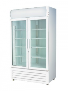 Thermaster Double Glass Door Colourbond Fridge LG-1200GE