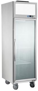 FED Single Glass Door Vertical Fridge 738mm Wide