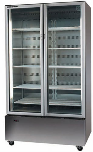 Skope Double Glass Door Fridge Bottom Mounted Unit