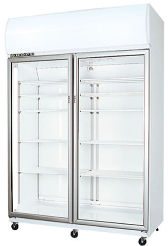 Skope Double Glass Door High Performance 1310 litre Vertical Fridge
